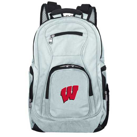 CLWIL704-GRAY: NCAA Wisconsin Badgers Backpack Laptop